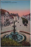 La Chaux De Fonds - Grande Fontaine Et Rue Léoplod Robert - NE Neuchâtel