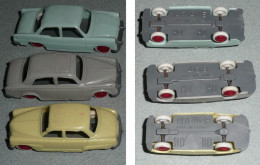 Rare Lot De 3 Voitures Autos HO H.O., Ariane Aronde 403 Peugeot - HO Scale