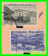 MADAGASCAR  ( MALAGASY )   2 SELLOS  AÑO 1962 - Madagascar (1960-...)