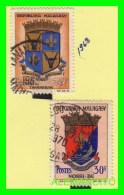 MADAGASCAR  ( MALAGASY )   2 SELLOS  AÑO 1963 - Madagascar (1960-...)