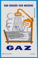 """BUVARD GAZ """"Eau Chaude Sur Mesure"""" Graphisme Illustrateur Peintre Affichiste Léo KOUPER Pub Publicité - Electricité & Gaz"""