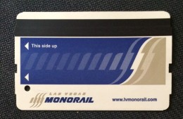 LAS VEGAS SPECIAL TRANSPORTATION CARD.MONORAIL .*** - Mondo