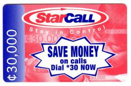 GHANA PREPAYEE STARCALL MOBITEL GSM - Ghana