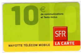 MAYOTTE PREPAYEE SFR - Télécartes
