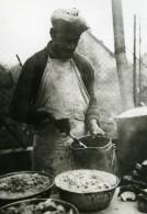 France WWII Preparation Du Couscous Chez Les Tirailleurs Marocains Ancienne Photo 1939 - Professions