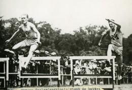 USA Michigan Detroit Morgan Taylor Record Du Monde Du 400m Haies Ancienne Photo 1920's