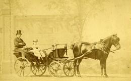 France Paris Transport Poney Chaise Ancienne Photo Albumine Delton 1875 - Photographs