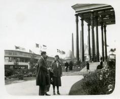 Belgique Bruxelles Exposition Universelle Le Parc Et Pavillon Vie Catholique Ancienne Photo 1935 - Places