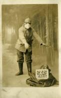 France Portrait Militaire Humoristique Ancienne Carte Photo 1910 - War, Military