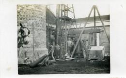 France  Lille Construction Cheminée Monumentale Ancienne Carte Photo 1930 - Professions