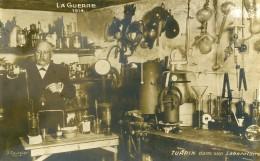 France WWI Guerre 14-18 Turpin Dans Son Laboratoire Ancienne Carte Photo 1914 - Professions