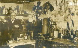 France WWI Guerre 14-18 Turpin Dans Son Laboratoire Ancienne Carte Photo 1914