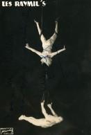 France Lille Cirque Acrobates Trapeze Les Raymil's Autographe Ancienne Photo 1960