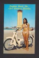 PIN UPS - SEXY GIRL - DAYTONA BEACH FLORIDA - GIRL WATCHERS PARADISE - TRÈS JOLIE MOTO ET FILLE - Pin-Ups