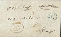 """Trento 1870 Italia, Gross Briefteil Von Die """"Comune Di Novaledo"""" Nach Branzol - Marcofilie"""