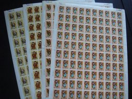Taiwan 1991 Auspicious Stamps Sheets God Costume Peach Calligraphy Coin Myth