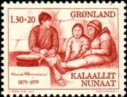 Eskimos And Knud Rasmussen (1879-1933), Arctic Explorer And Ethnologist, Greenland Stamp SC#B8 MNH - Groenland