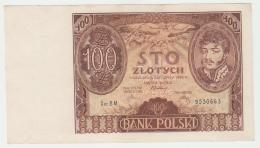 Poland 100 Zlotych 1934 XF+ AUNC Banknote Pick 75 - Poland