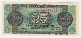 Greece 25,000,000 Drachmai 1944 UNC NEUF Pick 130a 130 A - Greece