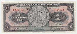 MEXICO 1 PESO 1945 UNC NEUF Pick 38c 38 C - Mexico