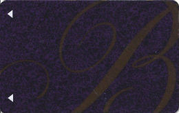 Bellagio Casino Las Vegas, NV - 3rd Issue Slot Card - PPC Over Mag Stripe  (BLANK) - Casino Cards