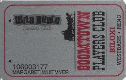 Boomtown Biloxi Casino Slot Card - Wild Bunch Seniors Club - Casino Cards