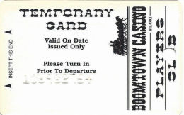 Boomtown Biloxi Casino - Temporary Slot Card - Embossed #Only - Casino Cards