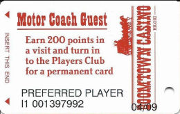 Boomtown Biloxi Casino - Motor Coash Guest Card - Earn 200 Points - Casino Cards