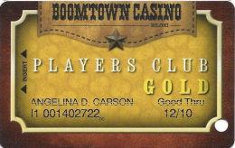 Boomtown Biloxi Casino GOLD Slot Card - Casino Cards