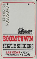 Boomtown Casino Las Vegas, NV - Silver Seekers Slot Card - Casino Cards