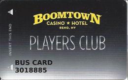 Boomtown Casino Reno, NV - Slot Card - BUS CARD - Casino Cards