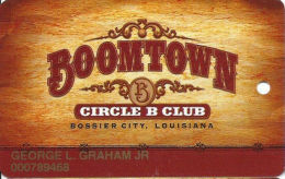 Boomtown Casino Bossier City, LA - 2nd Issue Slot Card - Text Indented/Black Mag Stripe - Casino Cards