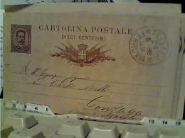 INTERO POSTALE Millesimo 87 Cent 10  Da ROMA X GONZAGA 1888 FM2282 - 1878-00 Umberto I