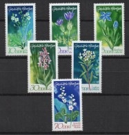 Germany GDR 1970 Protected Plants Aea Kale European Flowers Nature DDR Stamps Sc 1194-1199 Michel 1563-1568 - Plants