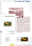 """(Prix à La Poste = 5.00 €) Document Philatélique Officiel De 2002 + KDO """" ARENES DE NIMES """" N° YT 3470. DPO - 2000-2009"""