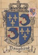 Carte Maximum   Armoiries  Du  DAUPHINE    GRENOBLE   1953 - Maximum Cards