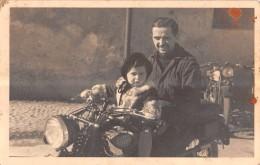 """04482 """"MOTO GILERA ANNI '40"""" ANIMATA.   FOTOGRAFIA ORIGINALE - Moto"""