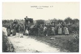 SAUMUR (Maine Et Loire) 49 - Les Vendanges - Beau Plan Animé - Édit. A. Papeghin , Paris, Tours - Saumur