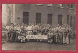 CPA CARTE PHOTO MILITAIRE - LES ANCIENS ARMEE DU RHIN SOUVENIR DE COBLENCE 1927 - Régiment Soldats - Regiments