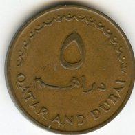 Qatar & Dubaï 5 Dirhems 1389 - 1969 KM 2 - Qatar