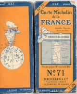 Carte Géographique MICHELIN - N° 71 BORDEAUX-La ROCHELLE - N° 2430-111 - Strassenkarten