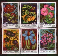 Yugoslavia 1975 Youth Day Flowers Garland Flower Garden Rose Plants Nature Stamps MNH SC 1255-1260 Michel 1601-1606 - Unused Stamps