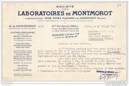 75 12 013 PARIS SEINE 1946 LABORATOIRES DE MONTMOROT Ets VEDE FAYES FLAMAND Culture à  BRAILLY CORNEHOTTE Par ABBEVILLE - 1900 – 1949