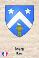 Carte Postale, Armoiries, Coat Of Arms, Heraldry Of The World, France (Marne), Juvigny - Cartes Postales