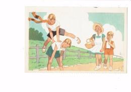 Cpa Comité Colonies De Vacances - Scouts Scout Garçon Fillette Jeu Saute-mouton Gym - été 1937 N°4 Georges Lang - Padvinderij