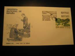 Madrid 1990 Orquesta Nacional Orchestra Music Fdc Cancel Cover Spain - Musica