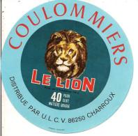 ETIQUETTE NEUVE FROMAGE COULOMMIERS LE LION CHARROUX VIENNE - Fromage