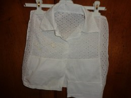 Plastron Epaule A Epaule 35cm Broderie Anglaise - Vintage Clothes & Linen