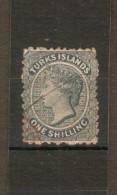 TURKS ISLANDS 1867 1s SG 3  No Watermark FINE USED Cat £60 - Turks & Caicos