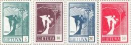 Lietuva Litauen 1990 Mi. Nr. 461-464